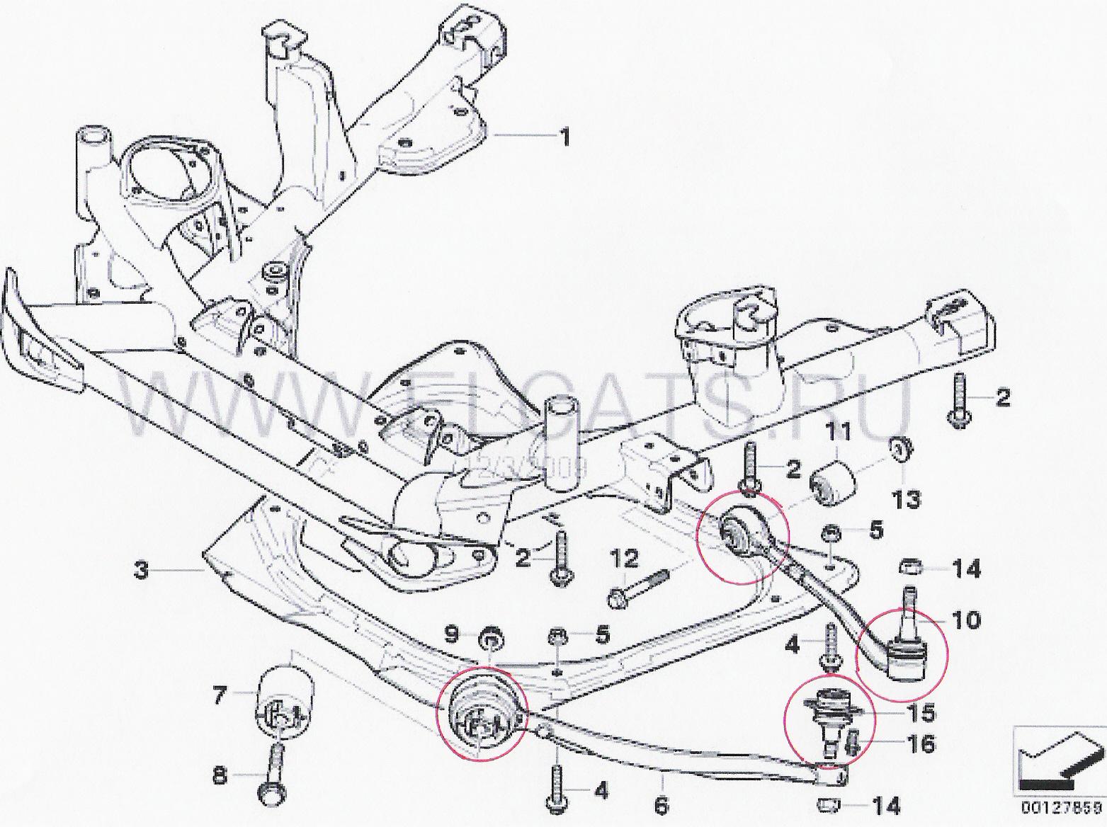 Передняя подвеска carina e схема